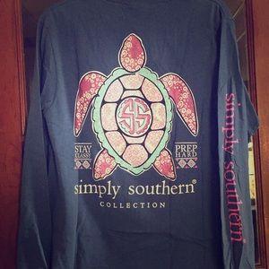 Simply Southern long sleeve turtle tee